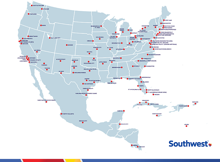 Southwest Airlines Newsroom – Southwest Airlines Travel Map