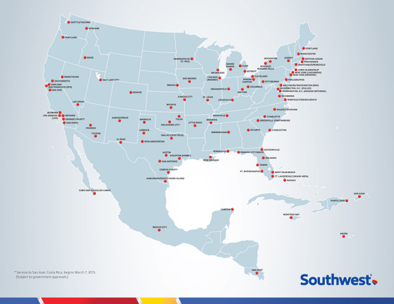Southwest Flights Map Southwest Airlines Newsroom Southwest Flights Map