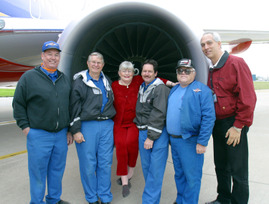 Colleen-Barrett-With-Maintenance-And-Engineering-Employees